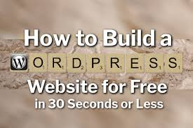 Build A Website Free In 30 Seconds